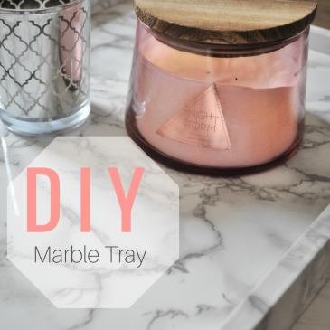 Diy, marble, tray, vinyl, craft, coffee table tray, desk tray, organizing hack, marble tray